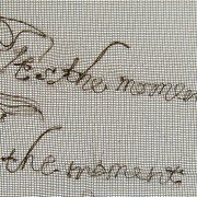 Mourning Embroidery 4 / detail- Lyrics