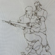 Mourning Embroidery 4 / detail- Soldiers To The End