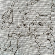 Mourning Embroidery 3 / detail- Soldiers To The End