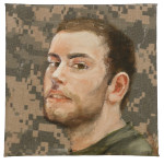 "Queror 2, 2014 Oils on US tactical fabric 6""xh x 6""w"
