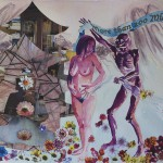 """Death and The MaidenMixed Media11""""h x 14""""w"""