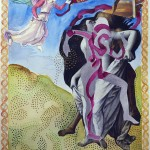 """Death and The Maiden IIMixed Media11""""h x 14""""w"""