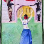 "Dance of Sheba IIMixed Media14""h x 11""w"