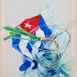 "Cuba Libre (Little Lie) 2017Oils on Mylar24"" x 18"""