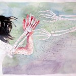 The Web (Dear Homeland) 2015 Watercolor on Paper 41.5″  x 72″