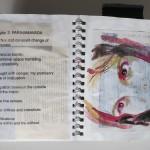 """Migration (inside Chpt 2) Mixed Media Artist Book10""""h x 6.5""""w x 4.5""""d"""