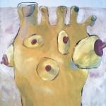 "CornsOils on canvas54""h x 54""w"