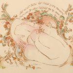 """Mi Amor Tiene Dos VidasBurns and watercolor11"""" x 14"""""""