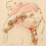 """Ardiente Con CariciasBurns and watercolor5"""" x 5"""""""