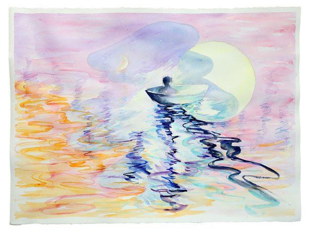 """No Uncommon Destination, 2018watercolor on paper22"""" x 30"""""""